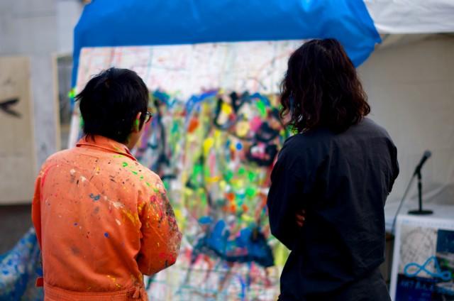 コラボした二人のアーティスト@ARTあんえっとん焼津