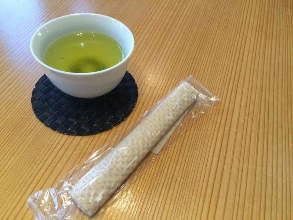 「日本茶ひといき」緑茶無料サービス