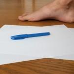 自作ワラーチその1:足の型紙をつくる