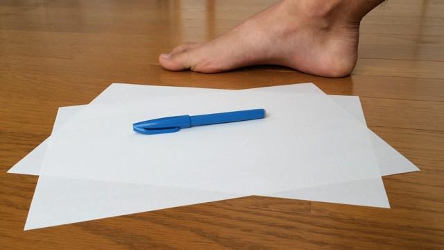 自作ワラーチ 足の型紙